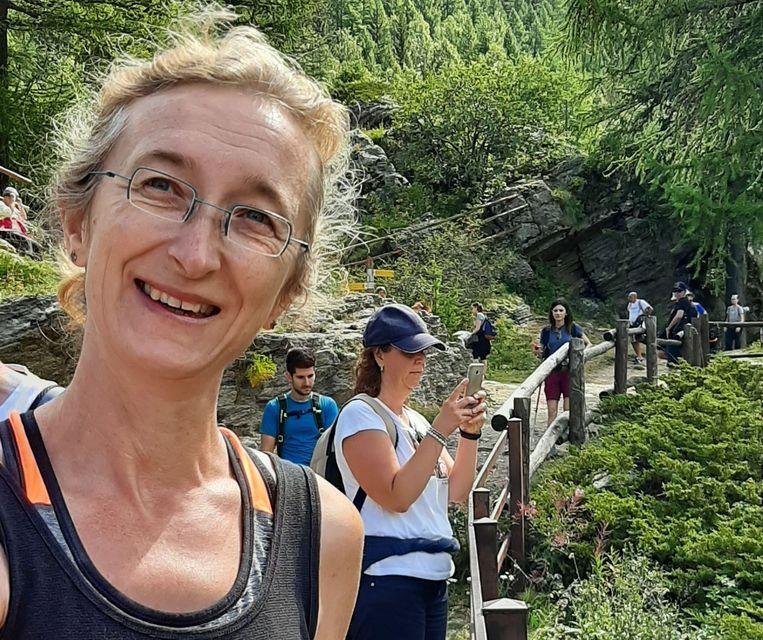 Kirsten in haar geliefde bergen