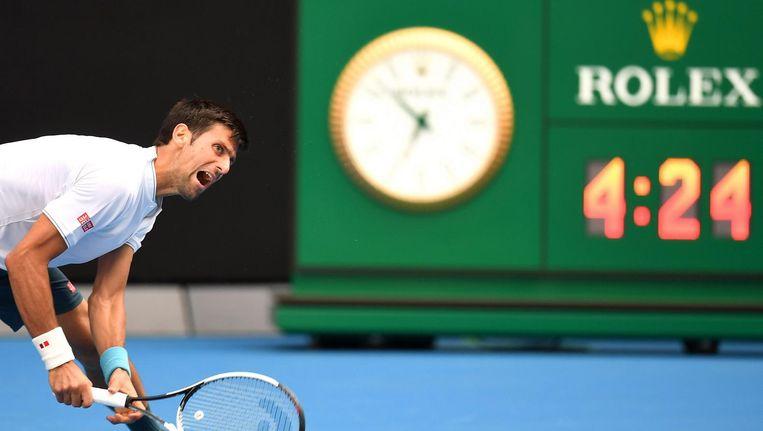 Novak Djokovic op de Australian Open Beeld anp