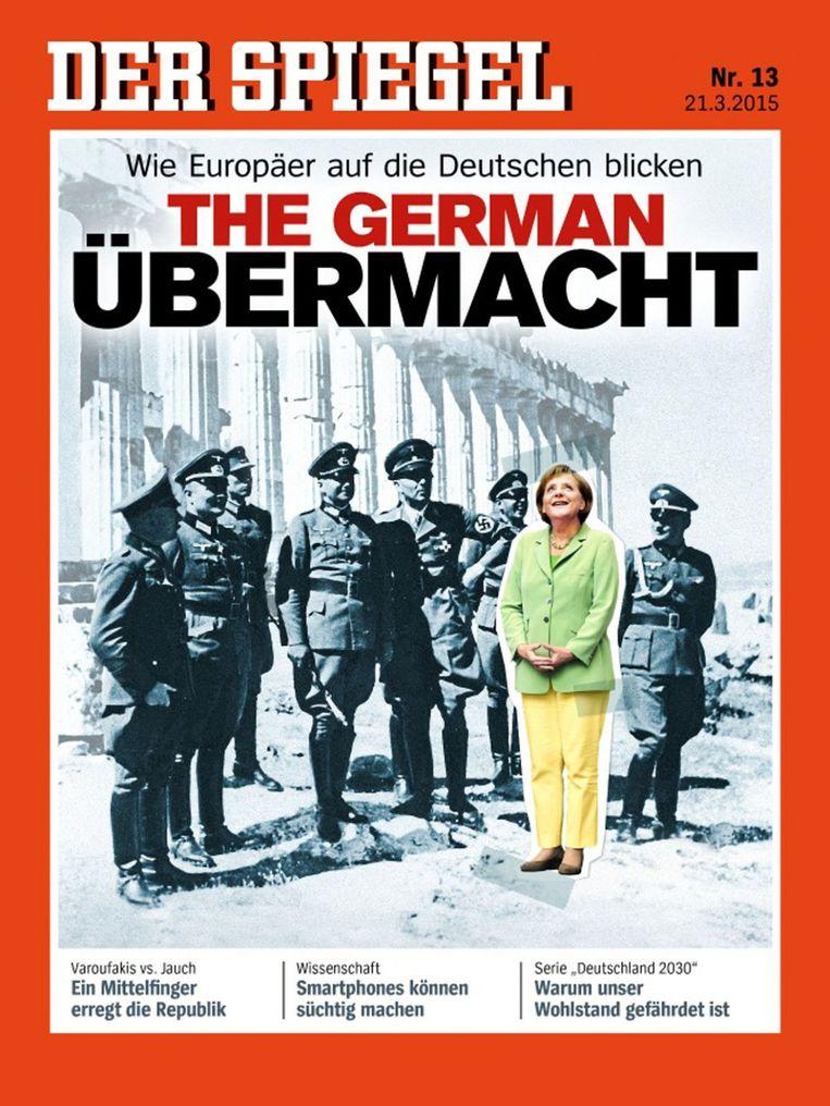 Cover van het Duitse weekblad Der Spiegel. Beeld null