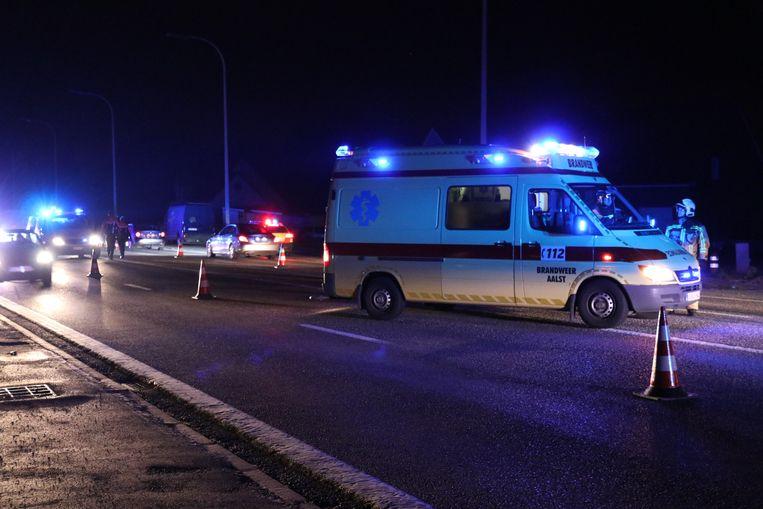 Het ongeval gebeurde op de Brusselsesteenweg.