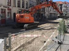 Aannemer hervat zware werken in Katelijnestraat