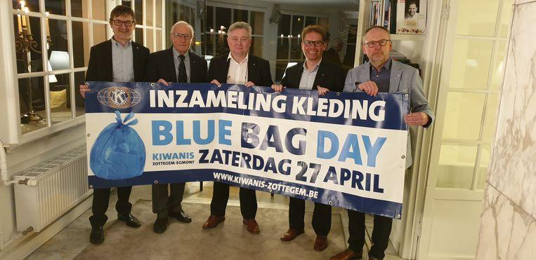 Kiwanis Zottegem-Egmont organiseert haar 9e Blue Bag Day.