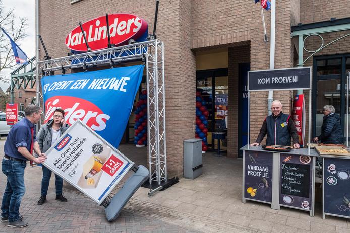 De volledig verbouwde supermarkt van Jan-Linders in Sint-Anthonis mocht niet open op 27 maart.