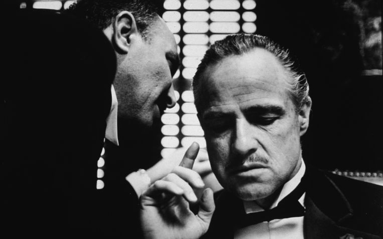 Marlon Brando in The Godfather Beeld null