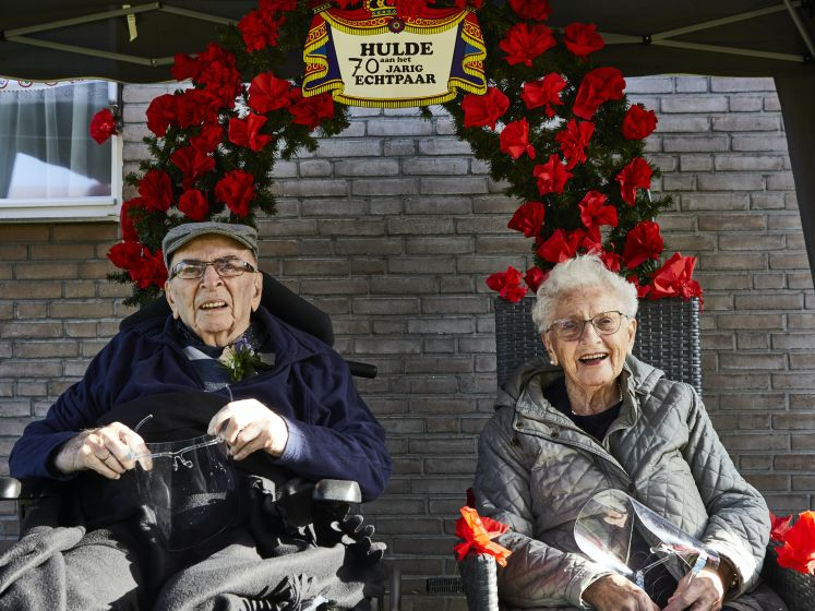 Zo vieren Wim en Leny toch nog hun 70-jarig huwelijk