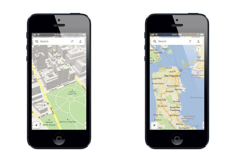 De app voor Google Maps. Beeld ap