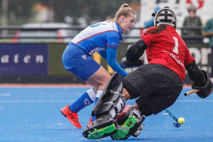 Voor Sophie Locht en de vrouwen van HC Zwolle is het de vraag of het seizoen uitgespeeld kan worden.