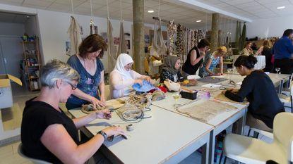 Open atelier rond recupereerbaar textiel