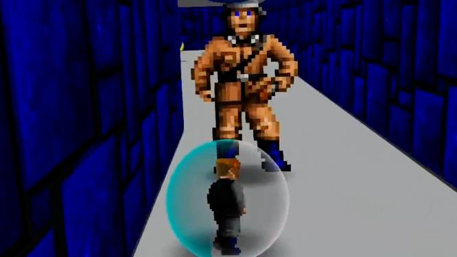 Hilarische mix van Wolfenstein 3D en Super Monkey Ball is nog plezant ook