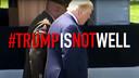 Beeld uit een verkiezingsspot van Republikeinen tegen Trump, waarin er twijfel over diens gezondheid wordt gezaaid.