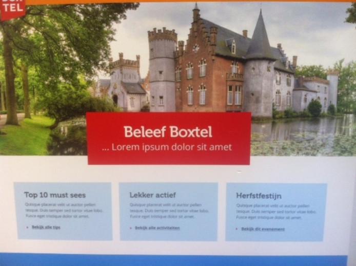 De website in wording van de promotie van Boxtel: Beleef Boxtel.