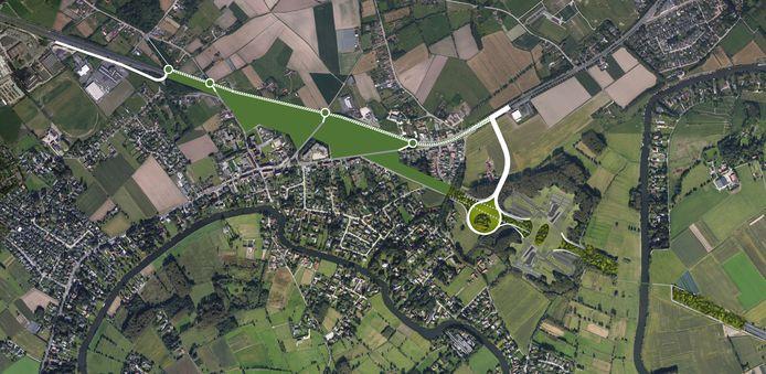 Het plan voor Drongen, met de E40 onder de grond