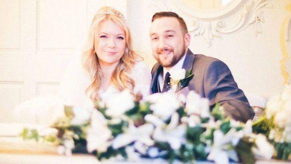 Liam en Michelle op hun huwelijk.
