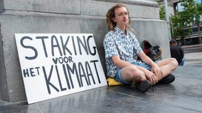 Student staakt voor een beter klimaat