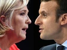 Macron beschuldigt Le Pen van haatzaaien