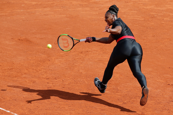 Serena Williams in haar 'catsuit'.