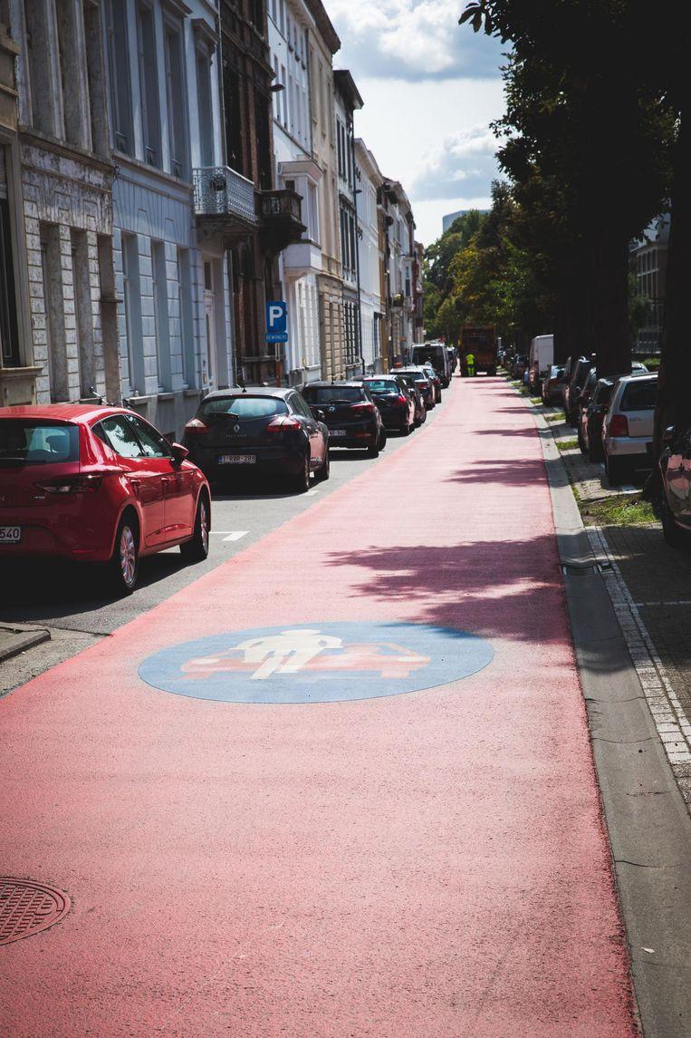 Hier is de fietser baas. Auto's die de regels niet respecteren, riskeren een boete van 58 euro.