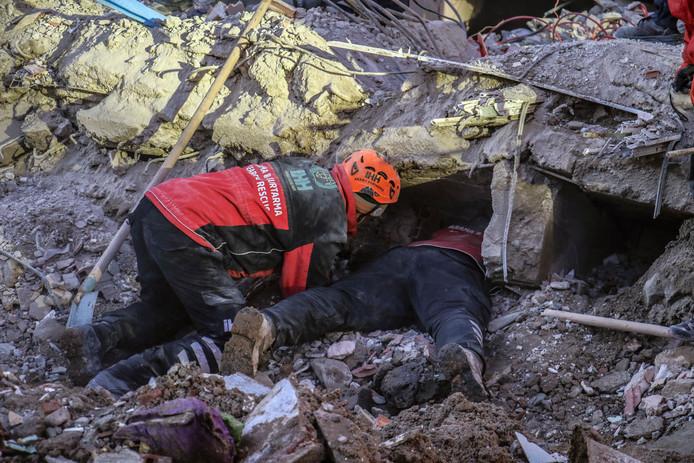 Reddingsoperatie na aardbeving Turkije.