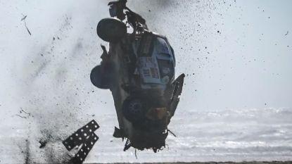 Ongelooflijk: rallypiloot crasht spectaculair tegen 180 km/u