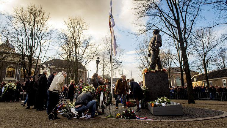 Herdenking van de Februaristaking bij de Dokwerker, eerder dit jaar Beeld ANP