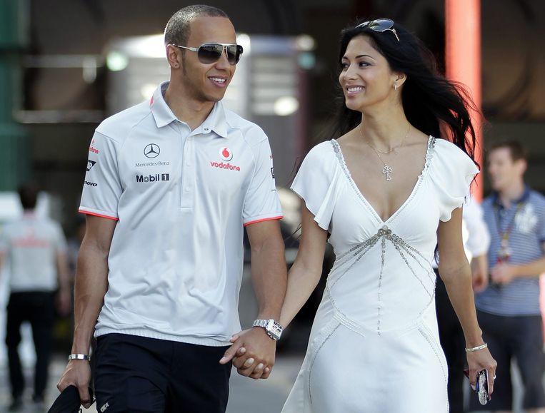 Hamilton en Scherzinger in betere tijden.