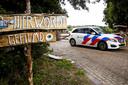 Politie bij landgoed Oergoed in Witharen.
