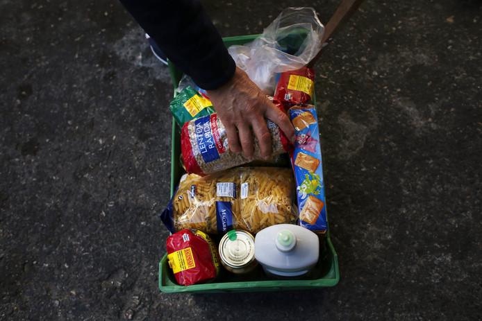 Een boodschappenmandje in Madrid.