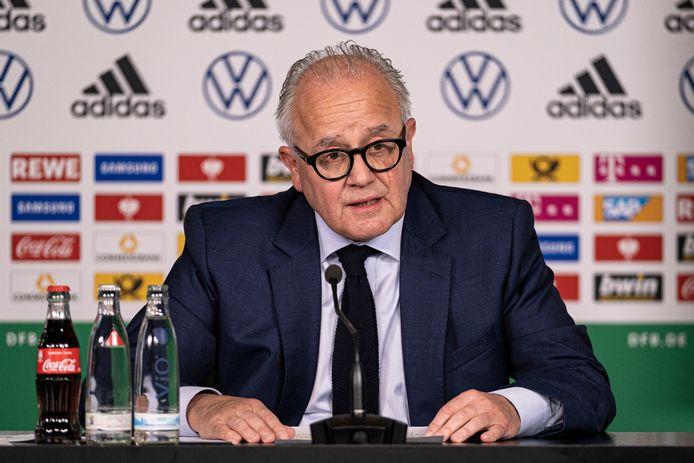 Fritz Keller, voorzitter van de Duitse voetbalbond DFB.