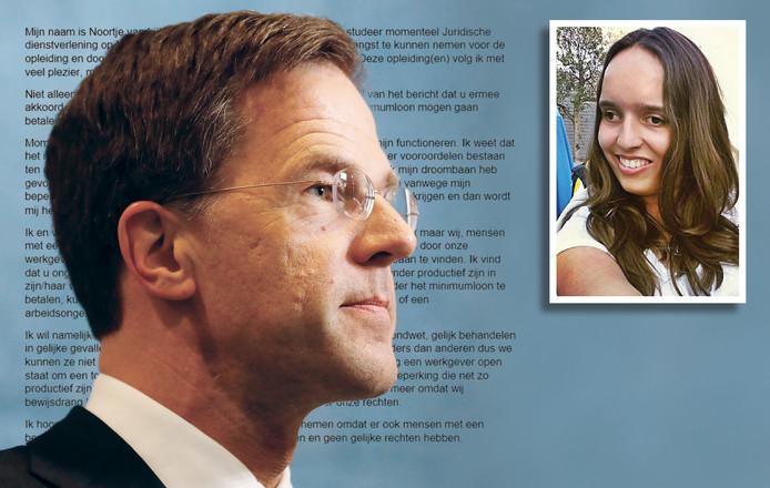 De 21-jarige Noortje uit Roosendaal schreef een open brief naar premier Mark Rutte.