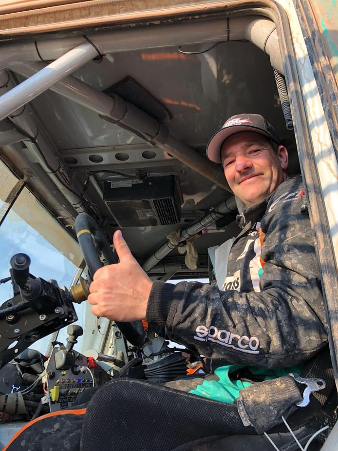 Ton van Genughten wint de zevende etappe van de Dakar rally 2018.