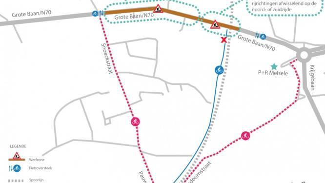 Lantis legt vrije busbaan en nieuwe fietsoversteek aan op N70