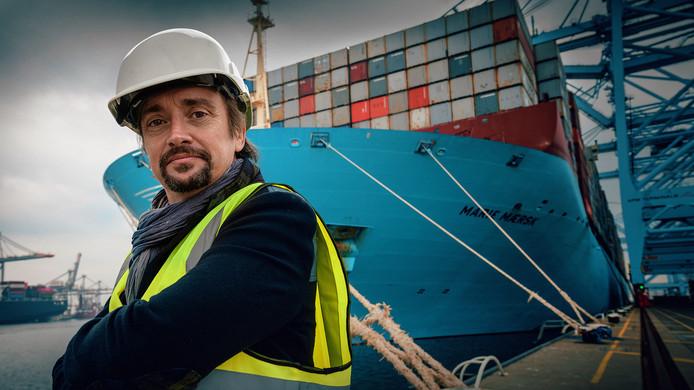 Richard Hammond bij de Marie Maersk