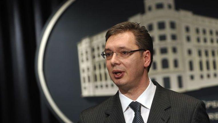 Vicepremier van Servië Aleksandar Vucic Beeld afp