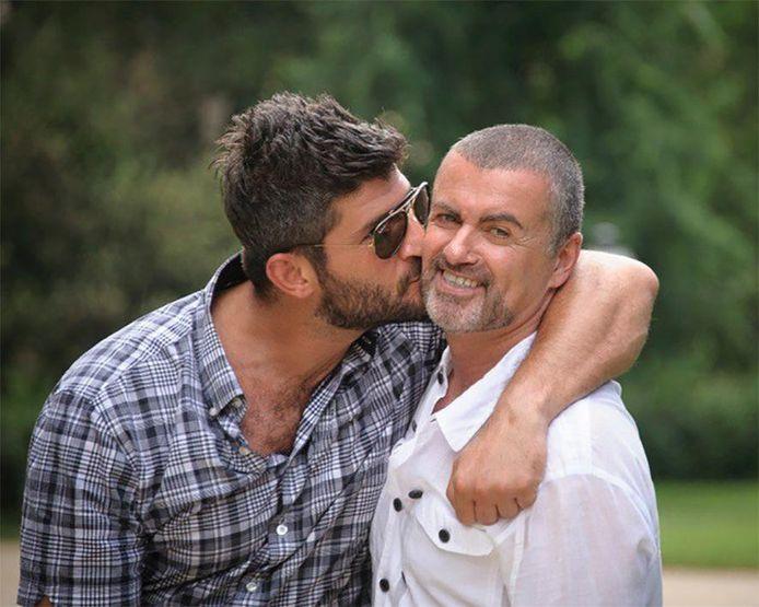 George Michael en Fadi Fawaz (links) in betere tijden