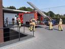 De brandweer kwam er aan te pas om het diertje uit de ombouw te redden.