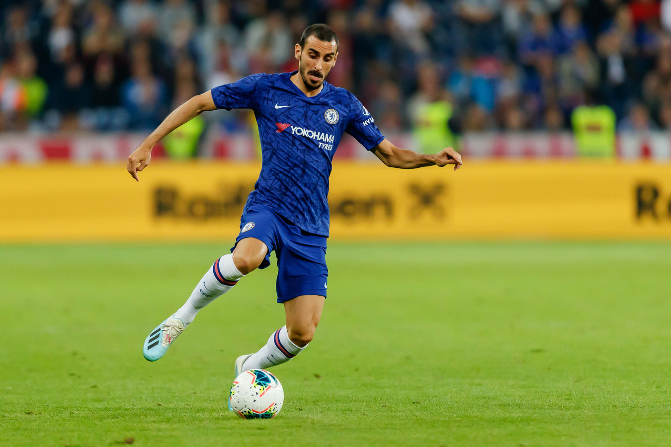 SALZBURG, AUSTRIA - JULY 31: Davide Zappacosta of FC Chelsea controls the ball during the pre-season friendly match between RB Salzburg and FC Chelsea at Red Bull Arena on July 31, 2019 in Salzburg, Austria. (Photo by TF-Images/Getty Images)