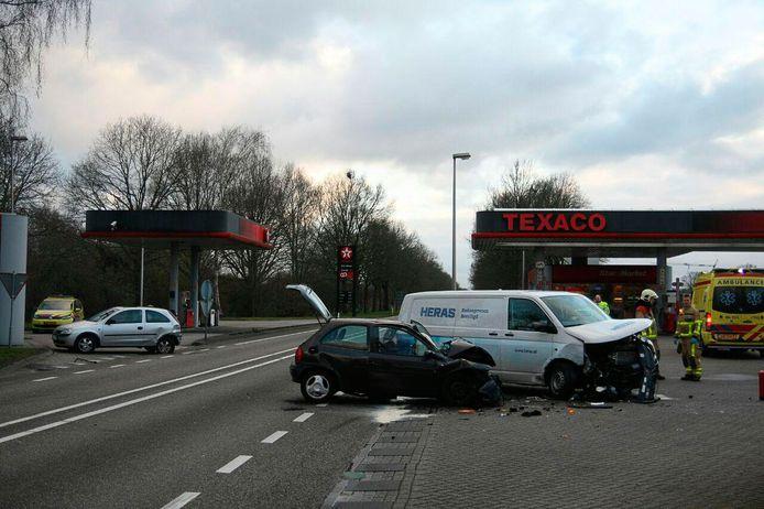 De situatie na het ongeluk in Lichtenvoorde in 2016.