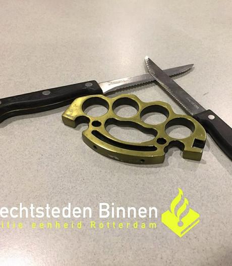 Dordtenaar (15) aangehouden met mes en boksbeugel