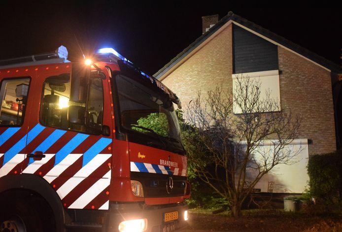 De brandweer was snel ter plaatse.