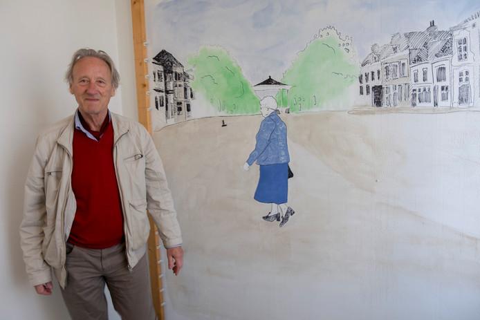 "Joop de Boer: ""Je hebt overal al van die saaie witte muren. Ik vind dit best aardig."""