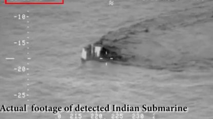 """VIDEO. Pakistan verspreidt beelden van Indiase duikboot """"die territoriale wateren wilde binnendringen"""""""