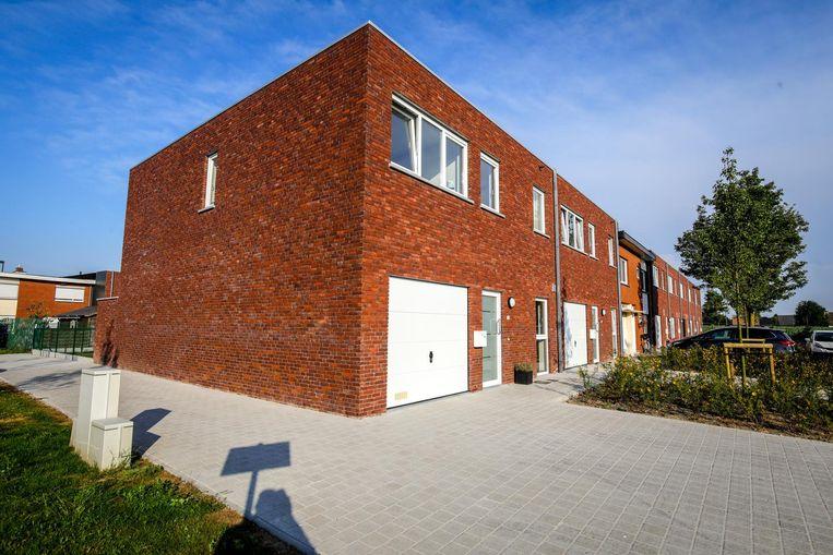 De nieuwe sociale woningen in de Koekoekstraat.