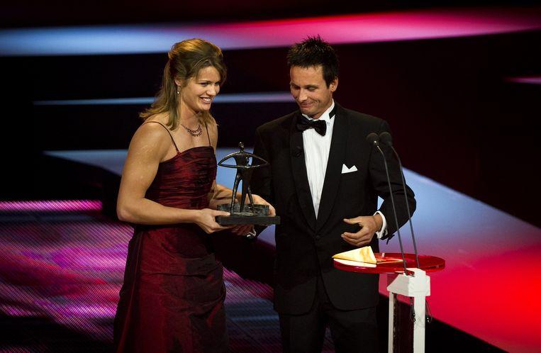Atlete Dafne Schippers werd in 2011 verkozen tot talent van het jaar. Dit jaar is de wereldkampioene genomineerd voor de titel sportvrouw van het jaar. Beeld anp