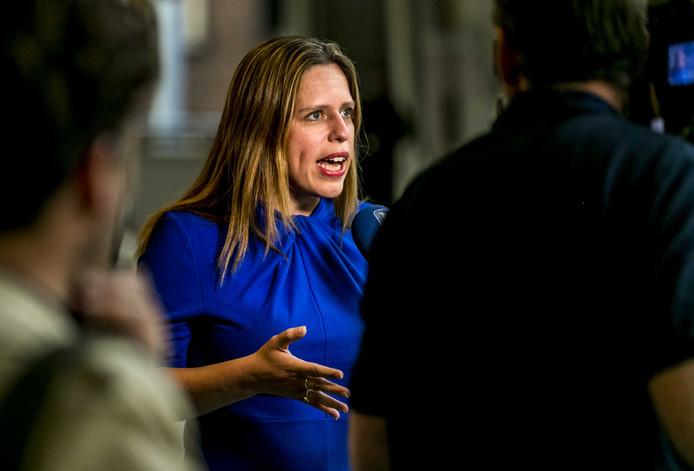 Carola Schouten, minister van Landbouw, Natuur en Voedselkwaliteit, voorafgaand aan het Tweede Kamerdebat over de uitspraak van de Raad van State over het stikstofbeleid.