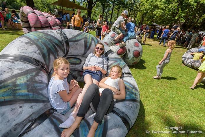 Ook de jeugd vermaakte zich volop bij het veelzijdig festival Krang