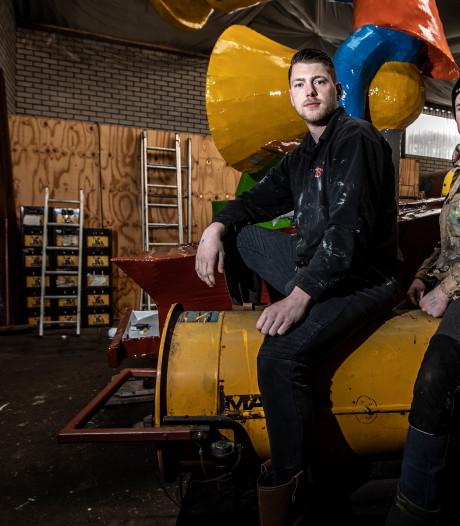 Bouwers carnavalswagens in de problemen: papier-maché droogt niet door extreem vochtige lucht