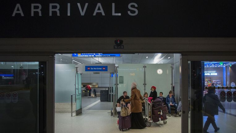 Inwoners van Jemen komen aan in Los Angeles. Beeld null