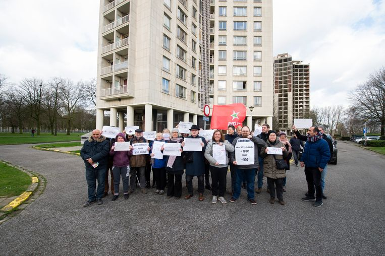 Eén van de drie Kielparktorens. Een pak meer huur vragen voor sociale woningen die op de slooplijst staan: volgens de actievoerders kan dat echt niet.