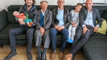 Familie Daelman viert viergeslacht met kleine Arne