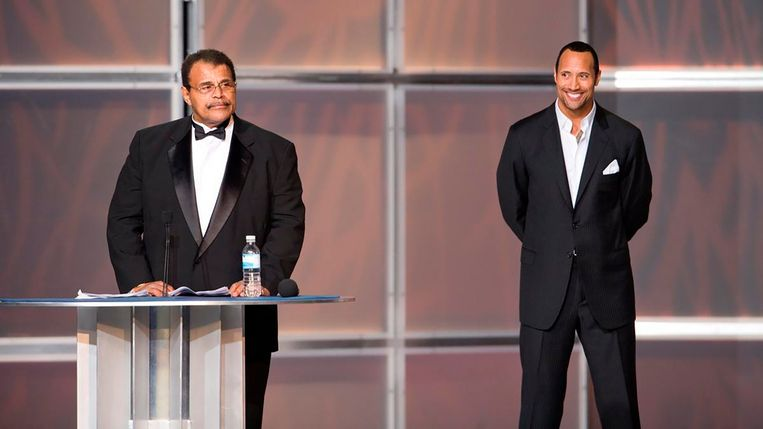 Rocky Johnson en Dwayne.
